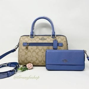 New Coach Rowan Satchel purse and wallet